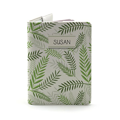 Retro Green Leaves Pattern - White - GREENERY COLLECTION ()