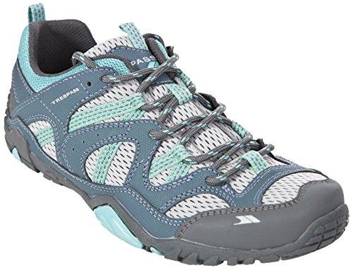 Trespass Foile, Zapatillas de Deporte Exterior para Mujer, Acero, 42 EU Gris (Steel)