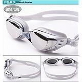 Brand Optical Myopia Sportwear Nearsighted Swimming Swim Goggles Eyewear Glasses Colour:Silver The degree of myopia:-150