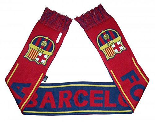 (Barcelona FC Woven Team Scarf 2014-15 (Maroon/Navy/Yellow))