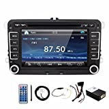 2DIN Receiver 7 Inch Display Built-In Bluetooth HD Radio Double Din in Dash For Polo Golf Passat B6 B7 Jetta Tiguan Touran