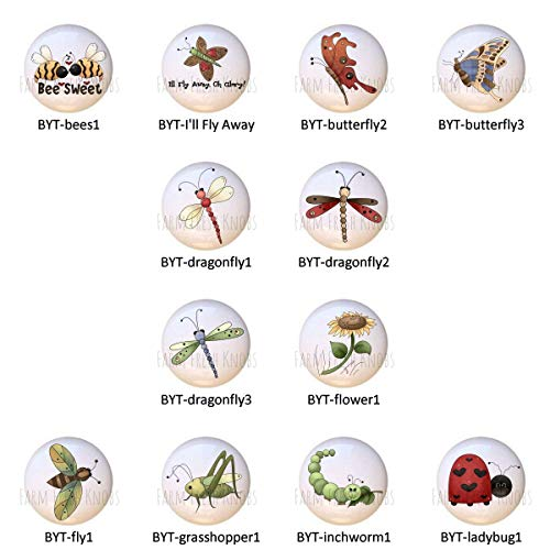 Buggin' You Too Country Insects Bugs DECORATIVE Drawer Pulls Dresser KNOBS