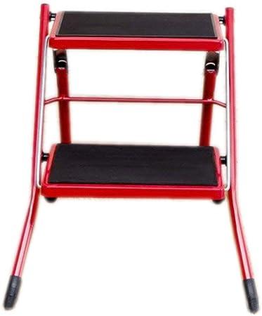 894176 XYQ - Escalera Antideslizante de 2 Pasos Escalera Plegable Taburete de Cocina Escaleras de Seguridad para el hogar DIY Escalera Plegable de Acero 3: Amazon.es: Hogar