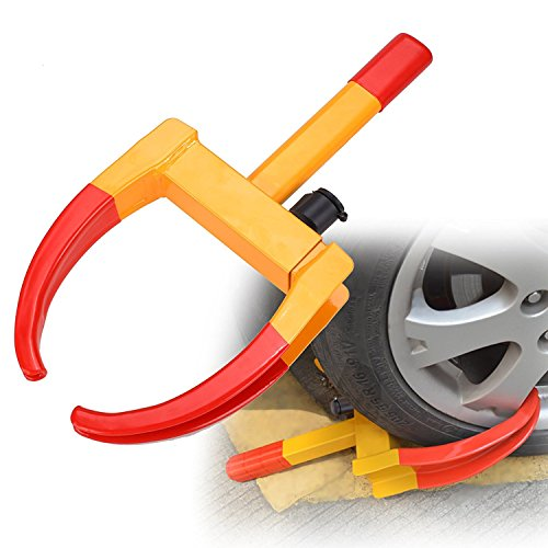 Meditool Car Tire Wheel Lock Heavy-duty Steel Anti-Theft Wheel Clamp Lock For Most Trailer, Car, SUV, ATV, RV 24/7 (Most Atv)