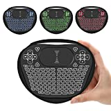 Mini Wireless Keyboard, Vive Comb 2.4G Handheld Backlit Rechargeable Keyboard with Touchpad Mouse and Multimedia Keys for PC, Computer, Smart TV, Android TV Box, Pad, XBOX