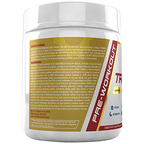 TRUNEGY #1 Best Fat Burner Pre Workout with Explosive Focus for Men and Women (60 Servings)