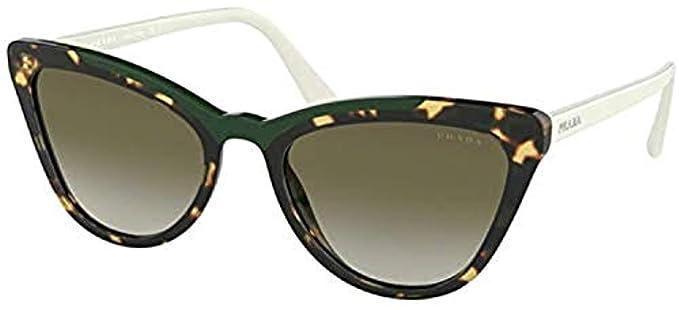 Prada 0PR 01VS, Gafas de sol para Mujer, Medium Havana/Green ...