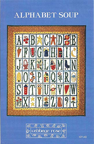 (Alphabet Soup Quilt and Applique Pattern #127-AS from Cabbage Rose Designed by Barbara)