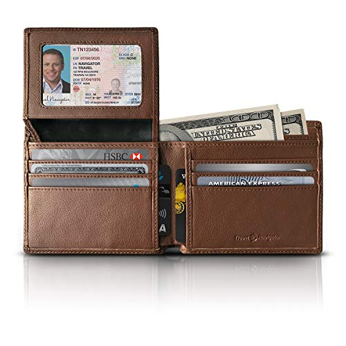 RFID Blocking Leather Wallets For Men, Brown (10 Most Luxurious Cars In The World)