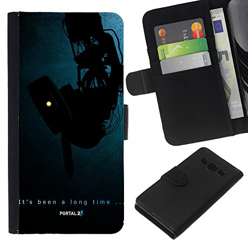 Price comparison product image GIFT CHOICE / SmartPhone Cell Phone Leather Wallet Case Protective Cover for Samsung Galaxy A3 / / Portal Aperture /