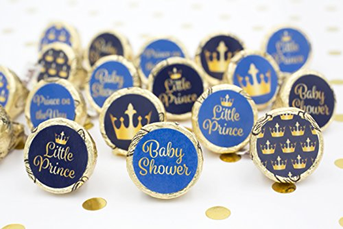 Superb Amazon.com: Little Prince Royal Baby Shower Stickers   Gold And Blue (Set  Of 324): Toys U0026 Games