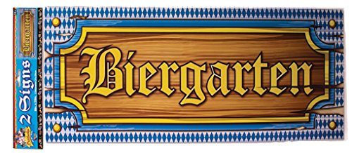 Oktoberfest Biergarten Signs - 2 pack - Beer