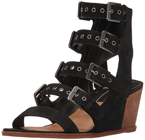 Dolce Vita Women's Laken Wedge Sandal Black