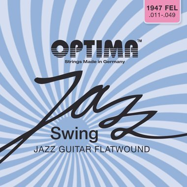 Optima 1947 FEL Electric FLATWOUND Strings, extra light by Optima