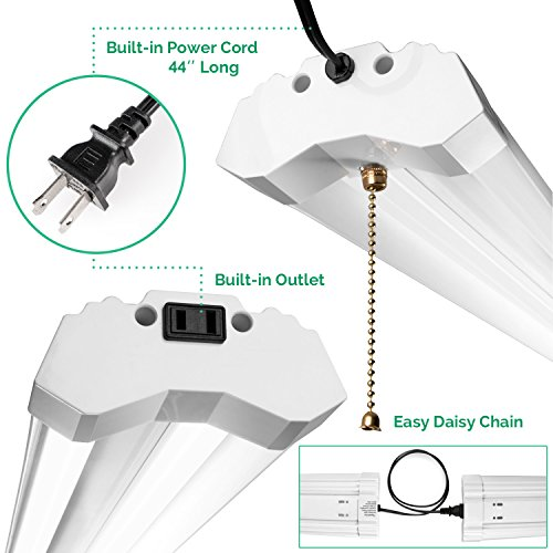 Linkable LED Utility Shop Light 4ft 4800 Lumens Super