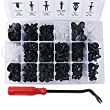Ownsig 415 Pieces 18 Sizes Auto Push Retainer Kit with Fastener Remover Universal Car Push Pin Rivet Trim Clip Tool Set