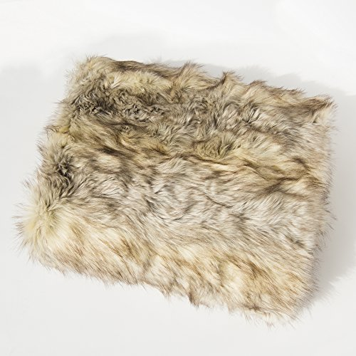 Animal Faux Fur Throw (Best Home Fashion Faux Fur Throw - Full Blanket - Kitt Fox - 58