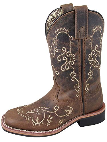 Smoky Children's Girls Marilyn Embroidered Waxed Western Cowboy Boots - ()