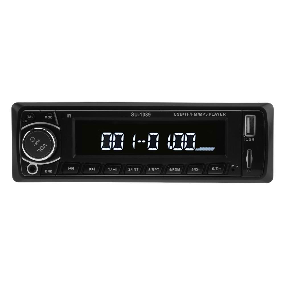 12 V LCD車mp3プレーヤーステレオラジオFM Bluetoothハンズフリー通話サポートSD / USB AUX B078V82BRG