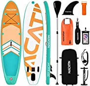 """NACATIN Inflatable Stand Up Paddle Board, Upgrade Version 10.6"""" Paddle Board with Free Premium SUP Access"""