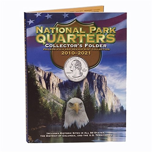 2010 P, D 2010-2018 P and D 90 Coin National Park Quarter Set In Full Color Harris Folder Uncirculated