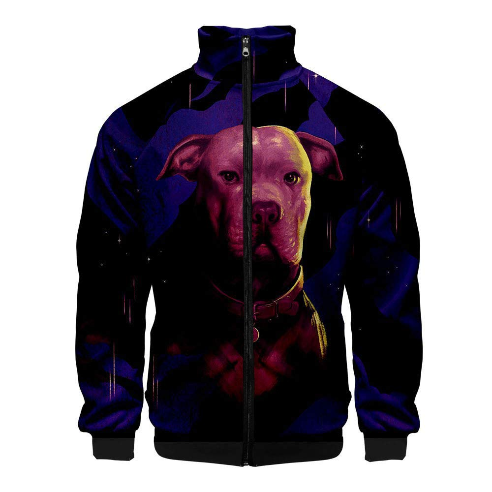 Lontime John Wick 3 Quickly Kill 3 Casual Men Around The Jacket Stand Collar Jacket