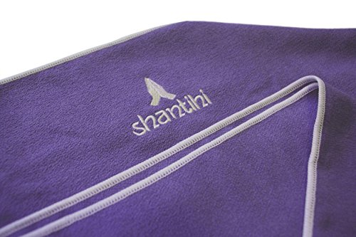 "Shantihi Workout Gym Towel - The Best Fitness Exercise Sports Towel. FREE Bonus eBook. (Hand Towel 15""x24"", Purple)"