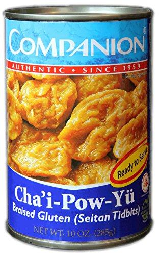 Companion - Braised Gluten Seitan Tidbits, 10 oz. Can (Pack of 12)