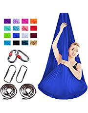 Nicole knapper, anti-gravity-yoga-set, geen naden, aerial yoga-doek, aerial silk, elastische yoga-hangmat met stoffen accessoires, 4 m x 2,8 m
