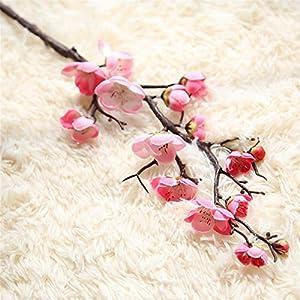 RoseSummer 1 Pcs Artificial Spring Blossom Cherry Peach Plum Bouquet Branch Silk Flowers Home Decor 65