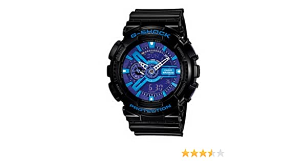 bd5d325a6650c Amazon.com  Men Casio GA110HC-1A G-Shock Black G-Shock Analog Digital  Anti-Magnetic Blue Pur  Watches