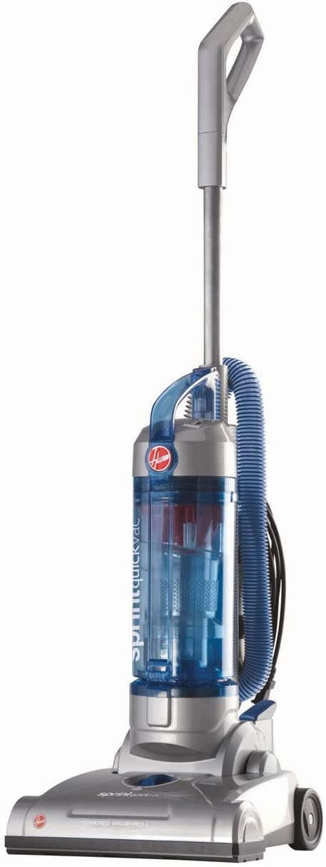 Hoover Sprint QuickVac Baggless Upright Vacuum Cleaner, Lightweight, 23ft Power Cord, UH20040, Blue