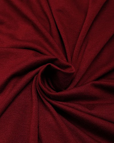 ABYOXI Tunic Tops for Leggings for Women,Ladies Sleeveless Pleated Fashion 2018 Clothe Cute Tank Top Shirts Claret XL by ABYOXI (Image #4)
