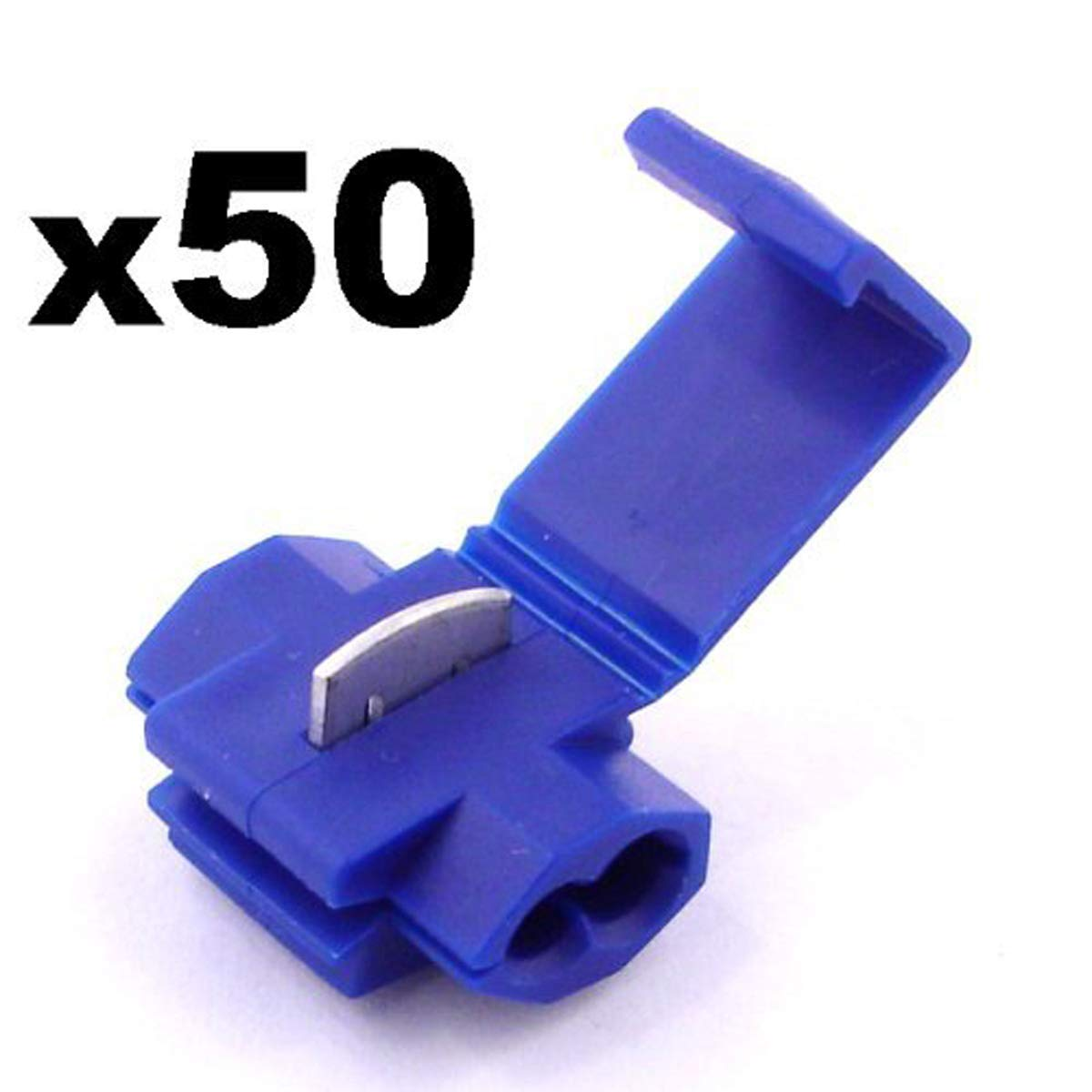 Scotch Lock Snap Splice Connectors Electrical X 50 Blue 8487curtwiringtconnectorstrailerwireconnectorjpg Free First Class Uk Postage Car Motorbike