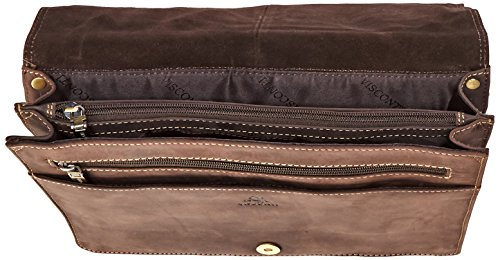 Visconti Harvard Distressed Leather Messenger Bag, Tan, One Size by Visconti (Image #4)