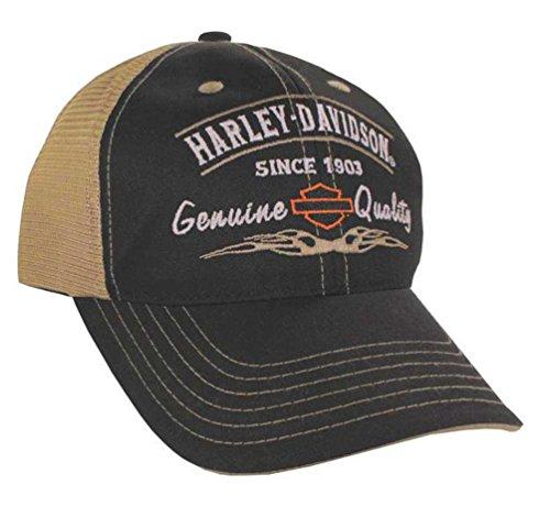 Harley-Davidson Men's Embroidered Cap. BCD16212, Black