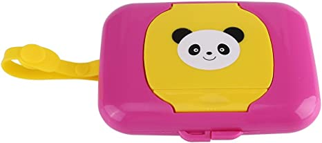 Caja de almacenamiento de toallitas húmedas, cochecito de viaje al aire libre Caja de toallitas húmedas Dispensador de caja de pañuelos Caja de toallitas húmedas portátil para cochecito(Rose&Yellow): Amazon.es: Bebé