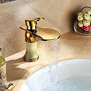 outlet W&P Centerset Single Handle One Hole in Ti-PVD Bathroom Sink Faucet European Style