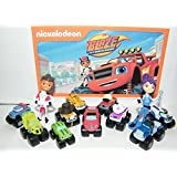 Nickelodeon Blaze and the Monster Machines Party Favors Goody Bag Fillers Set of 13 Figures with Blaze, Zeg the Dinosaur Truck, AJ and Many More!