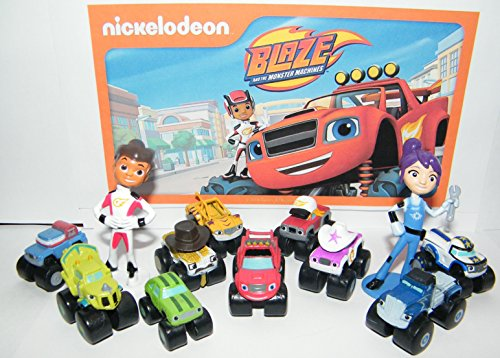 Nickelodeon Blaze and the Monster Machines Party Favors Goody Bag Fillers Set of 13 Figures with Blaze, Zeg the Dinosaur Truck, AJ and Many More! by Blaze and the Monster -