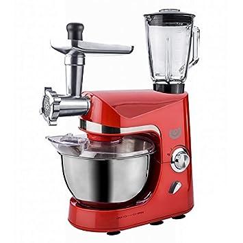 AFK Robot de cocina batidora máquina de picar carne para mezclar dispositivo 1200 W Rojo: Amazon.es: Hogar