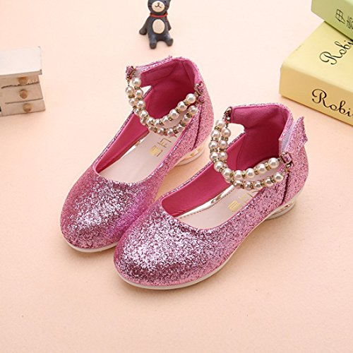 bb78be478aa0 YIBLBOX Girls Kids Toddler Dress up Cosplay Princess Wedding Shoes Mary  Jane Low Heel Shoes for