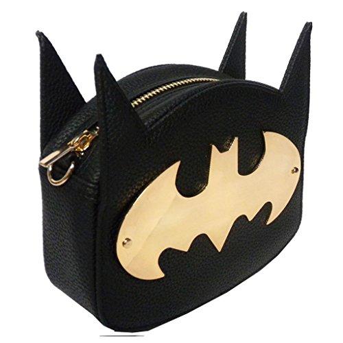 Nero ufficiale DC Comics Batman personaggio croce corpo borsa con orecchie - Cosplay