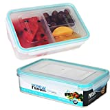 Persik Premium Lunch Box Bento Containers - 800 ml (27 oz.), Bento Meal Prep Containers BPA free, with 3 Divided Removable Compartment Portion Control, for Kids & Adults