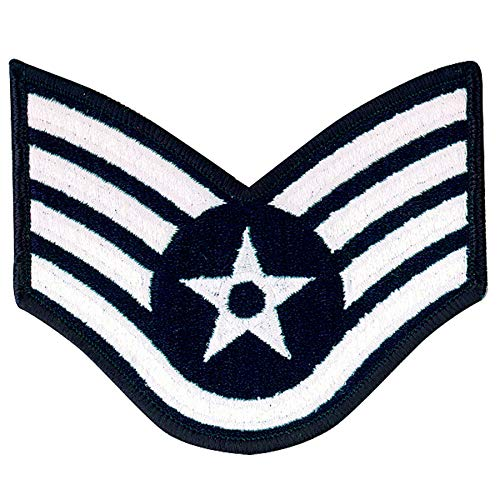 Medals of America Air Force Staff Sergeant E 5 Full Color Embroidered Enlisted Rank Large Size Multicolored