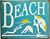 Beach Tin Sign 16 x 13in