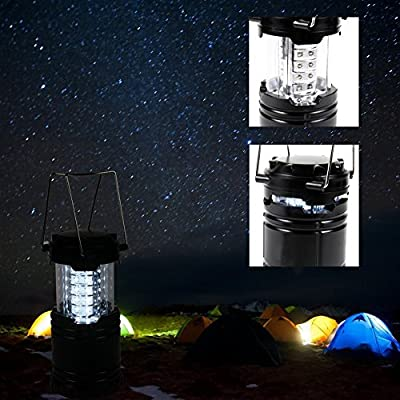 Led Camping Lantern and Flashlight -Rechargeable -for Hiking Camping Hiking, Fishing, Outdoor adventures, Emergencies, Hurricanes -Easy to carry (Black)