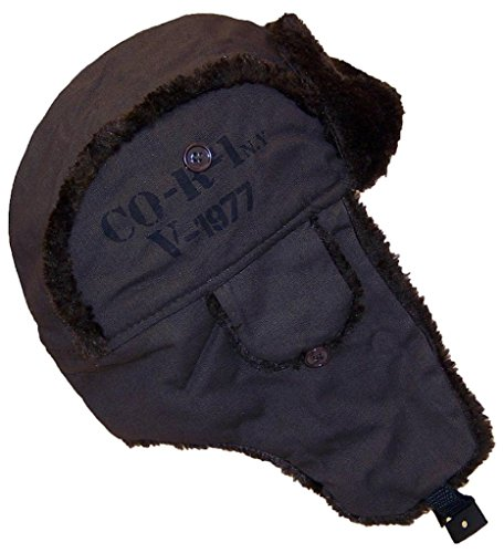 D&Y Aviator/Russian/Trapper W/Faux Fur Military Look Lightweight (One Size) - Brown
