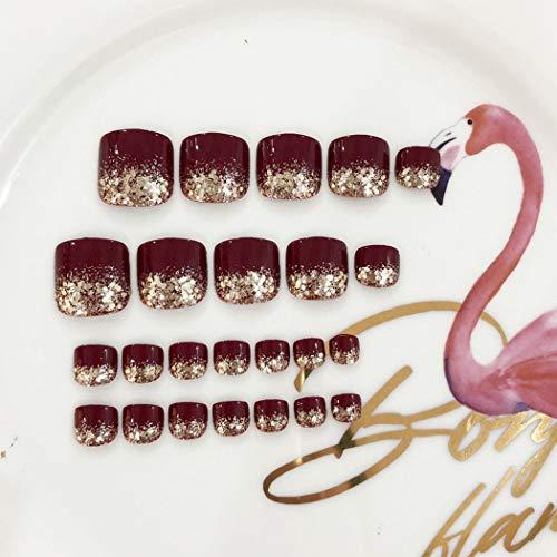 Amazon.com: Evazen - 24 uñas postizas cuadradas decoradas ...