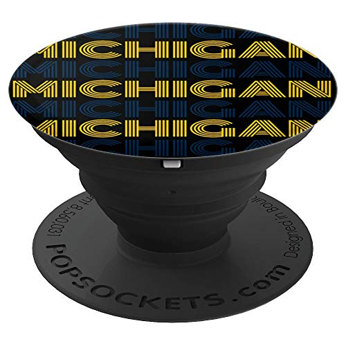- State of Michigan Fun Fan Cool Sports Adults Kids - PopSockets Grip and Stand for Phones and Tablets